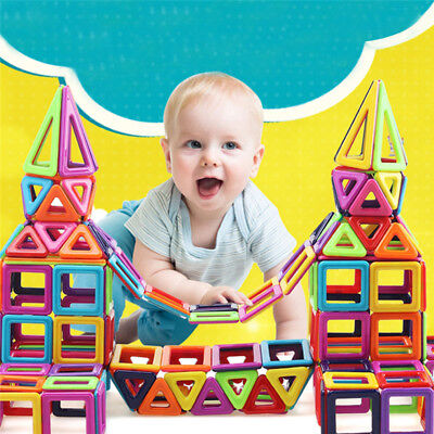 AU!! 166 PCS Educational Magnetic Blocks Construction Building Kid Toy Xmas gift