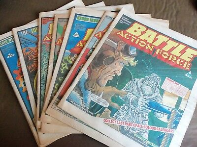 9 Battle Action Force Comic -Assorted 1984