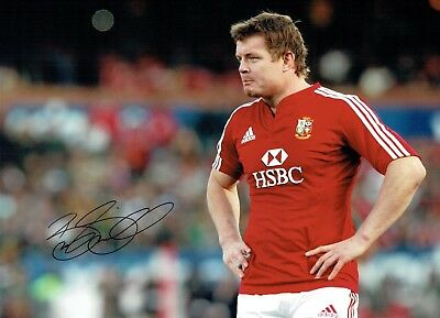 Brian O'DRISCOLL Signed Autograph 16x12 Photo 1 AFTAL COA British Lions RUGBY