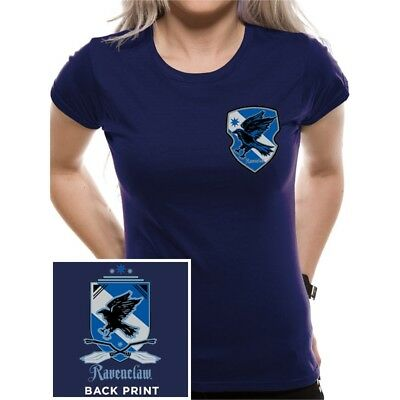 5a3f24ce Officially Licensed Ladies Harry Potter Hogwarts Ravenclaw House Fitted T- shirt