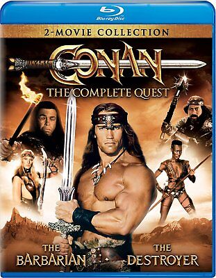 Conan  Complete Quest Blu Ray 2 Disc Arnold Schwarzenegger Barbarian/destroyer