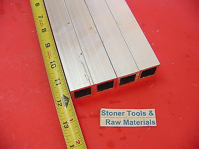 "4 Pieces 1""x 1""x 1/16"" Wall 12"" Long ALUMINUM SQUARE TUBE 6063 T52 1""SQ x .062"""