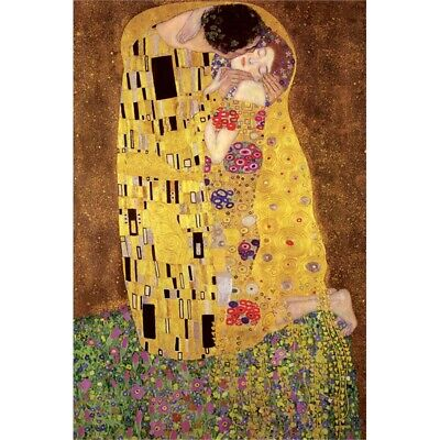 "Pyramid International "" Gustav Klimt's The Kiss"" Maxi Poster, 61 x 91.5cm"