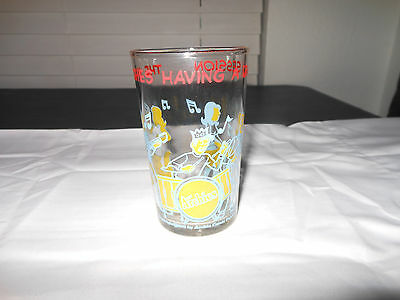 """The Archies Having A Jam Session Glass Vintage 4"""" Tall"""