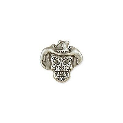 Tandy Leather Sugar Skull Concho Cowboy Antique Silver Plate/nickel Free