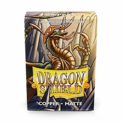 YUGIOH Dragon Shield Mini 60 JAPANESE  Sleeves MATTE - COPPER - Small Size