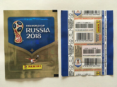 Pochette Panini World Cup Coupe Monde 2018 Russia Packet Bustina French Vertical