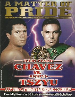 2000 JULIO CESAR CHAVEZ vs KOSTYA TSZYU WORLD TITLE PROGRAMME