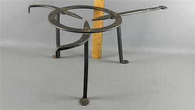 Antique Forged Wrought Iron Cooking Trivet Hearth Fireplace Tool Dagger Handle