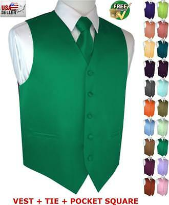 Men's Formal Satin Tuxedo Vest and Bow-Tie. Wedding, Prom, Cruise, Dress