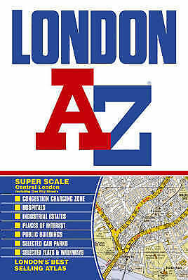 London Street Atlas by Geographers' A-Z Map Company, Good Book (Paperback) Fast