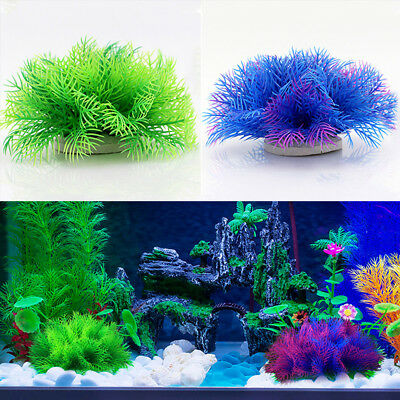 Hot Artificial Aquarium Plastic Fake Water Grass Plant Home Fish Tank Ornament