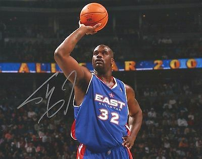 SHAQUILLE O'NEAL HAND SIGNED 8 x 10 ALL-STAR Photo Autograph w/ COA Nice AUTO