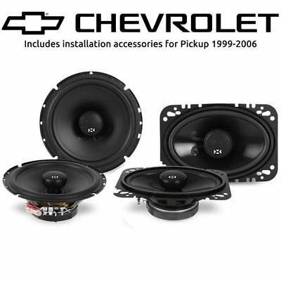 Chevy Silverado Pickup 1999-2006 Factory Speaker Upgrade NVX NSP525 NSP46