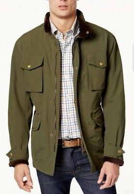 Barbour Men's Green Waterproof Jersey Full Zip Jacket