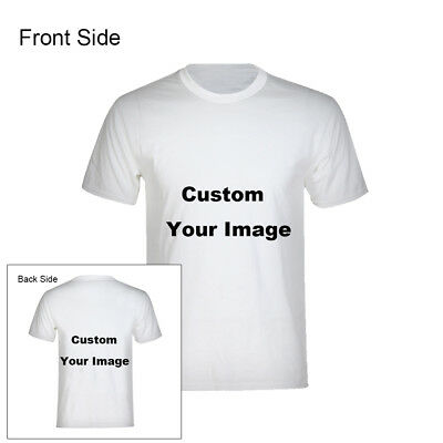 Custom Personalized T-shirt Your Text or Image Both Sides Tee (Adult & Kid) Gift