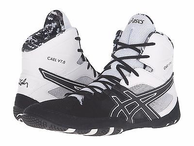 9fe04142c7e4 ASICS CAEL V7.0 Mens Wrestling Shoes Black Onyx White Us8.5   free Post  Aust - EUR 145