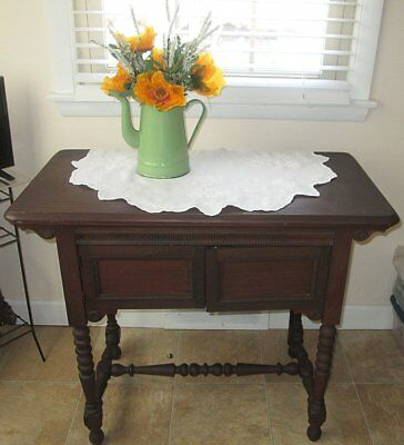 RARE ANTIQUE GRAYBAR SEWING MACHINE in BEAUTIFUL WOOD CABINET