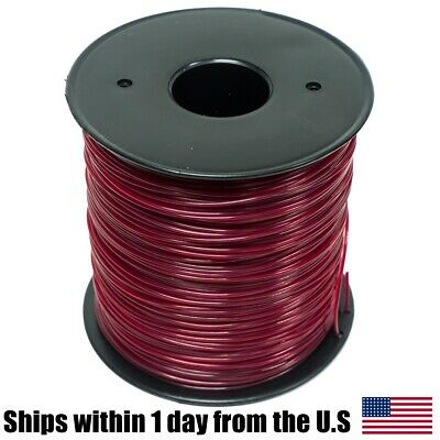 5lb .095 Round Red Commercial String Trimmer Line Spool Fits Echo RedMax Stihl