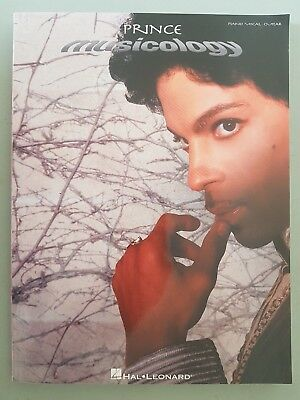 """PRINCE """"MUSICOLOGY"""" USA PIANO VOCAL GUITAR SONGBOOK with 7 pages of pictures"""