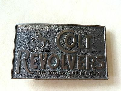 """Vintage Colt Revolvers """"The Worlds Right Arm"""" Belt Buckle  - Collectible!"""