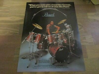 Pearl Drums - Genesis - Chester Thompson 1982 Print Ad