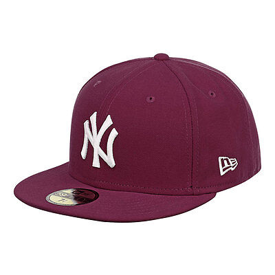 New York Yankees Maroon MLB New Era 59FIFTY Fitted Cap - 7 & 7 1/8