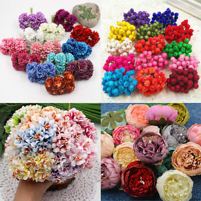 23 Styles Artificial Rose Peony Fake Flowers For Wedding Party Home Decoration