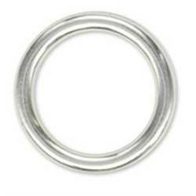 Solid Ring Nickel Plated - 21 Belt Strap Design Accent Tandy Leather 118600