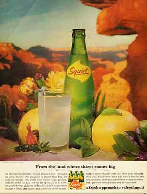 1960s vintage ad, SQUIRT SOFT DRINKS   -110112