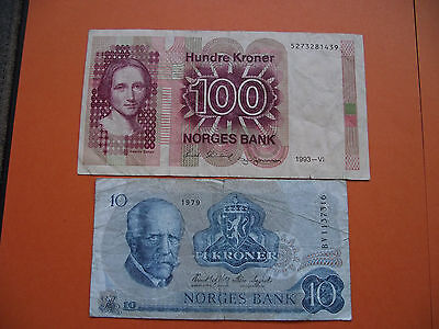 Norwegen (Norway). 2 Banknoten (1979-1993)