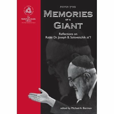 MEMORIES OF A GIANT (Rabbi Soloveitchik Library) - Paperback NEW MICHAEL A BIERM