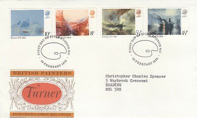 (10025) GB FDC JMW Turner London WC 19 February 1975