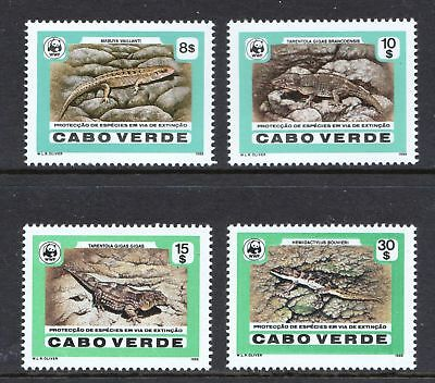 Cape Verde 1986 World Wildlife Fund - Endangered Reptiles MNH - Cat £34 - (100)