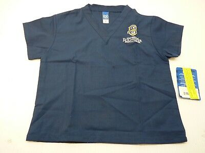 GelScrubs Kids Unisex Medical Scrub Shirt 6774 University Rochester Logo Size L