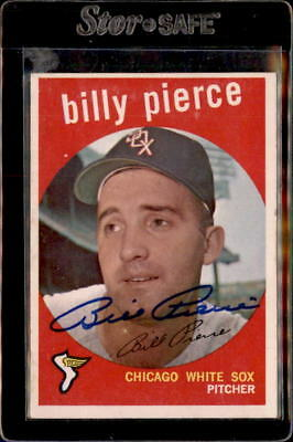 Billy Pierce Chicago White Sox 1959 Topps Autographed Baseball Card 410 DECEASED