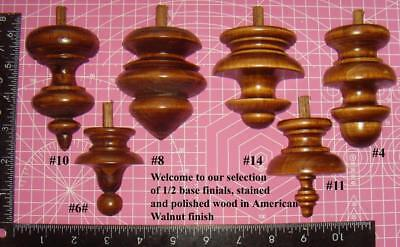 da type 1/2 base finial selection  vienna regulator clock finials (1 of only)