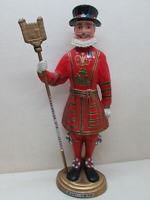 "Antique Rare 24"" Beefeater Gin London General Store Bar Counter Display Statue"