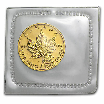1999~~$5 CANADA GOLD 1/10th OZ MAPLE LEAF~~.9999 FINE GOLD~~LOWER MINTAGE