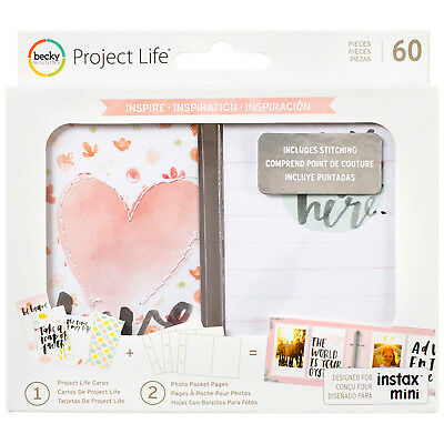 Project Life INSPIRE INSTAX VALUE KIT (60) PCS 380629 STITCHED ACCENTS