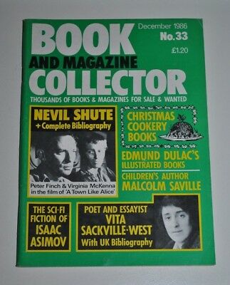 Book Collector Dec 1986 # 33 - Nevil Shute,  Asimov, Dulac, Vita Sackvile-West