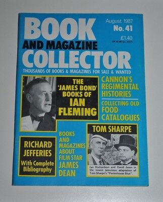 Book Collector Aug 1987 # 41 - James Bond, Regimental histories, James Dean