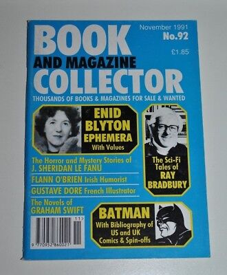 Book Collector  # 92 Nov 1991 - Enid Blyton, Ray Bradbury, Batman, Flann O'Brien