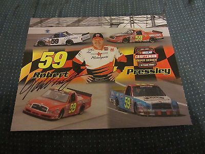 Robert Pressley Driver Autographed Signed 8X10 Photo NASCAR Racing