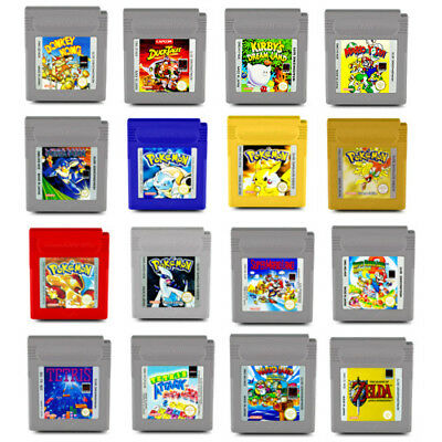 Gameboy Game Pokemon Red Yellow Blue Silver Gold Super Mario Land Zelda Tetris