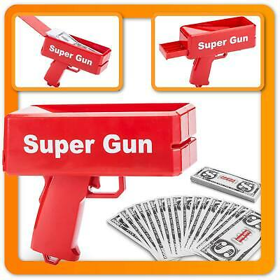 Super Money Gun Spielzeug Geld Pistole Party Revolver Banknoten für Supreme Fun