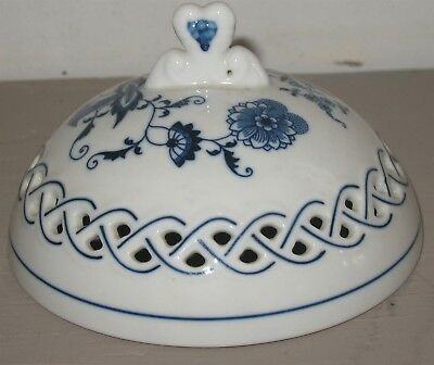 Vintage Blue Danube Onion Openwork Top Replacement Lid Only