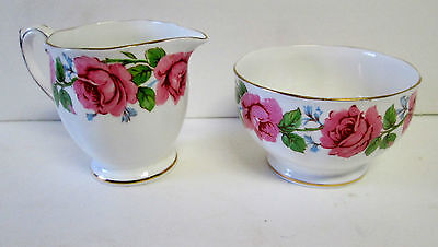 Vintage Queen Ann Lady Alexander Bone China Creamer Open Suger Bowl