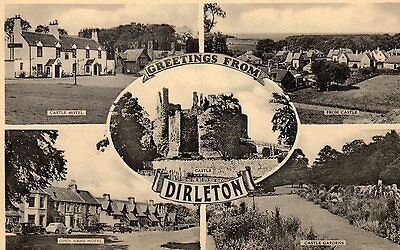 Vintage Postcard.multi View Dirleton Open Arms Castle Hotel