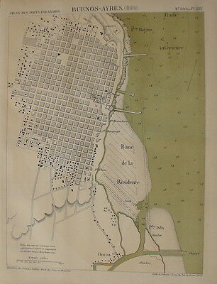 South America,Buenos Ayres,1884,harbour plans,lithograph
